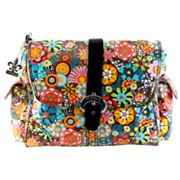 Kalencom Retro Floral Laminated Buckle Diaper Bag