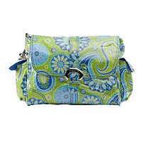 Kalencom Paisley Laminated Buckle Diaper Bag - Green