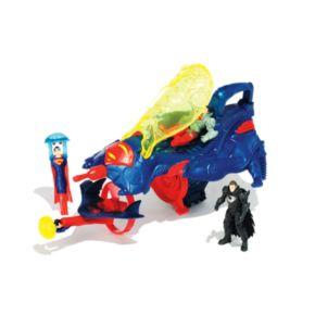 DC Comics Superman Man of Steel Flight Speeders Deluxe Strike Ship Gift Pack by Mattel