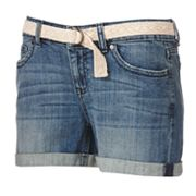ELLE Cuffed Denim Shorts