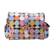Kalencom Disco Dots Laminated Buckle Diaper Bag - Cocoa