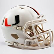 Riddell Miami Hurricanes Revolution Speed Mini Replica Helmet