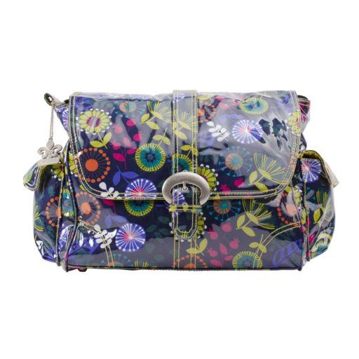 Kalencom Dandelion Laminated Buckle Diaper Bag - Grape
