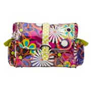Kalencom Floral Laminated Buckle Diaper Bag
