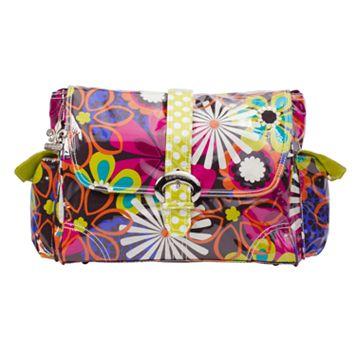 Kalencom Floral Laminated Buckle Diaper Bag