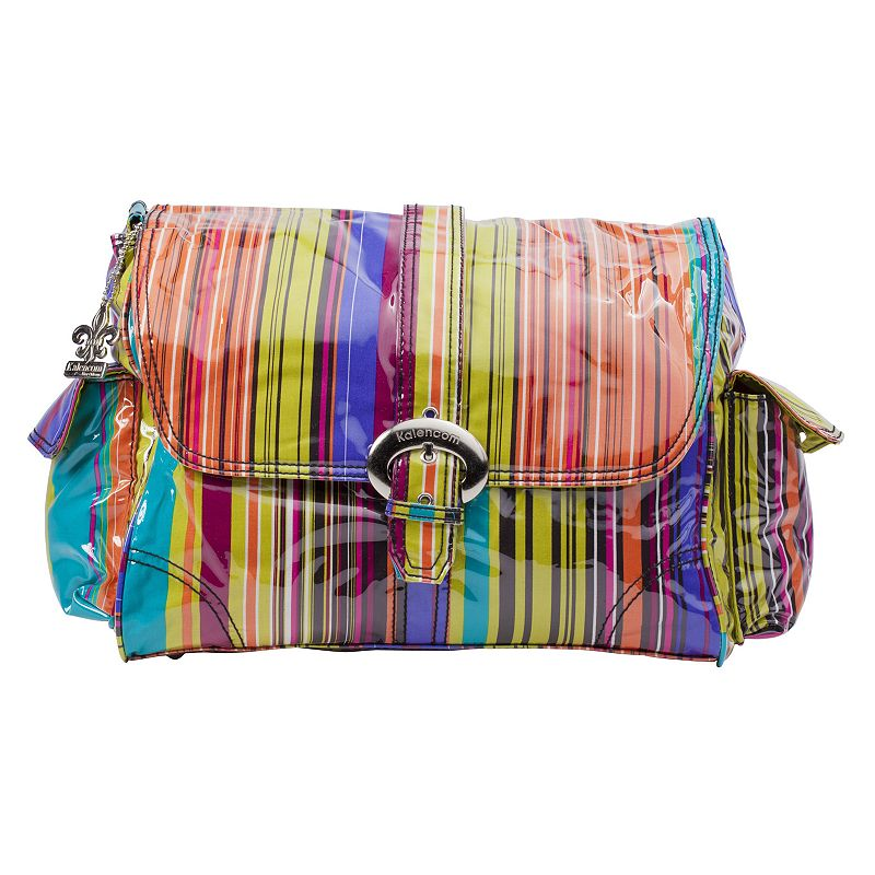 Kalencom Striped Laminated Buckle Diaper Bag