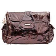 Kalencom Elite Python Laminated Diaper Bag - Chocolate