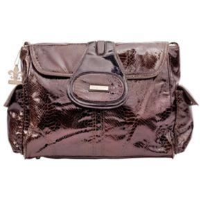 Kalencom Elite Python Laminated Diaper Bag - Chocolate