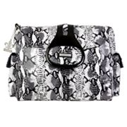 Kalencom Elite Python Laminated Diaper Bag - Black and White