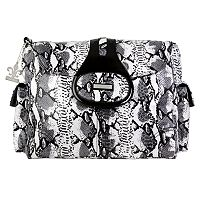 Kalencom Elite Python Laminated Diaper Bag - Black & White