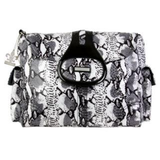 Kalencom Elite Python Laminated Diaper Bag - Black and White