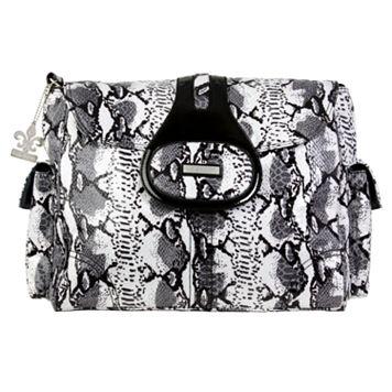 Kalencom Elite Python Laminated Diaper Bag - Black & White