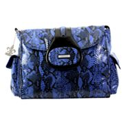Kalencom Elite Python Laminated Diaper Bag - Delph Blue