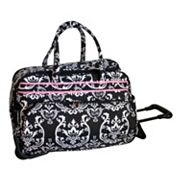 Jenni Chan Luggage, Damask Wheeled Duffel Bag