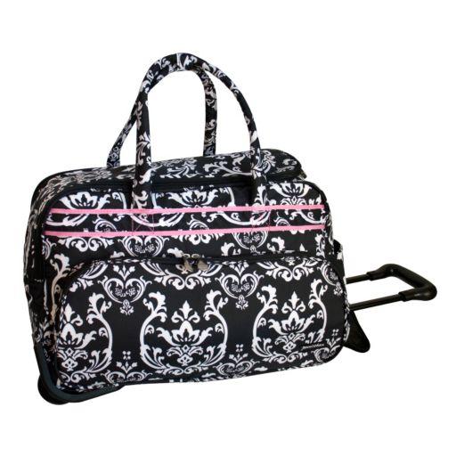 Jenni Chan Damask Rolling Duffel Bag