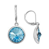 Illuminaire Silver Plate Crystal Drop Earrings - Made with Swarovski Crystals