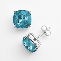 Illuminaire Silver-Plated Crystal Stud Earrings - Made with Swarovski Crystals