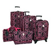 Jenni Chan Luggage, Damask 360 Quattro 5-pc. Spinner Luggage Set