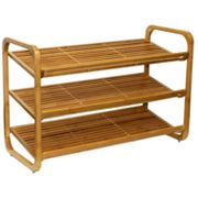 Oceanstar 3-Tier Adjustable Bamboo Shoe Rack