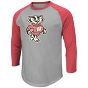 Colosseum Wisconsin Badgers Pressbox Raglan Tee - Men