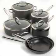 Food Network™ 10-pc. Hard-Anodized Nonstick Dishwasher Safe Cookware Set