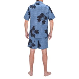 Big & Tall Residence Floral Camp Shirt and Swim Trunks Set