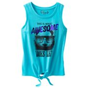 Mudd Awesome Panda Tie-Front Tank - Girls 7-16
