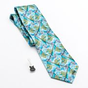 Jerry Garcia Northern Lights 2 Tie and Collector's Pin Set