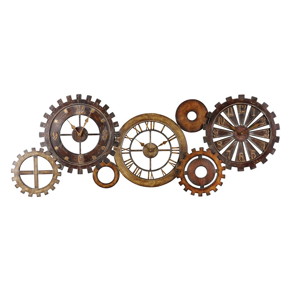 Uttermost 7-pc. Spare Parts Wall Clock Set