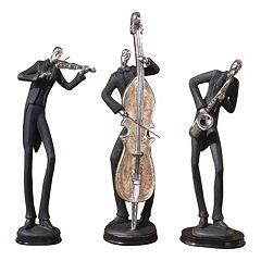 3-pc. Musicians Decor Set