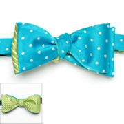 Croft and Barrow Stripes and Dots Reversible Self-Tie Bow Tie