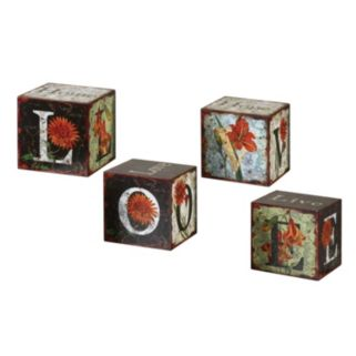 4-pc. Love Letters Decor Set