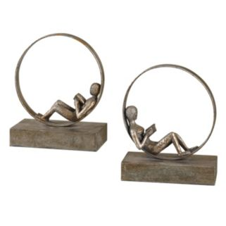2-pc. Lounging Reader Bookend Set