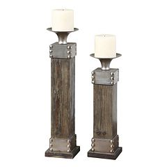 Uttermost 4-pc. Lican Pillar Candle & Candleholder Set