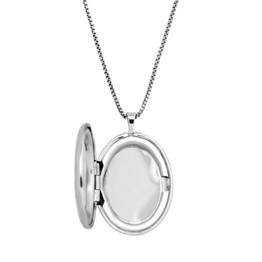 14k Gold Over Silver and Sterling Silver Oval Support Our Troops Locket