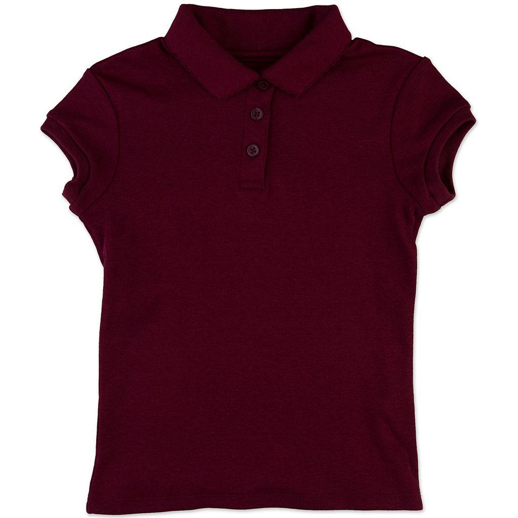 Girls 4-6x Chaps Picot School Uniform Polo