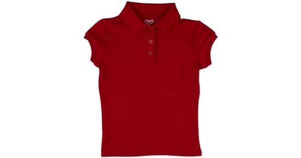 Girls 4 6x Chaps Picot School Uniform Polo