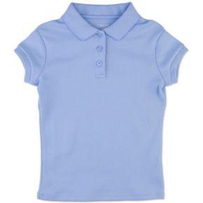 Girls 7-16 Chaps Cap Sleeve Picot School Uniform Polo