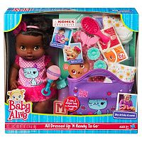 Baby Alive All Dressed Up 'N Ready To Go Doll Gift Set by Hasbro