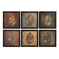 6-pc. ''New Leaf Panel'' Framed Wall Art Set