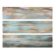 3 pc ''Horizon View'' Panel Canvas Wall Art Set