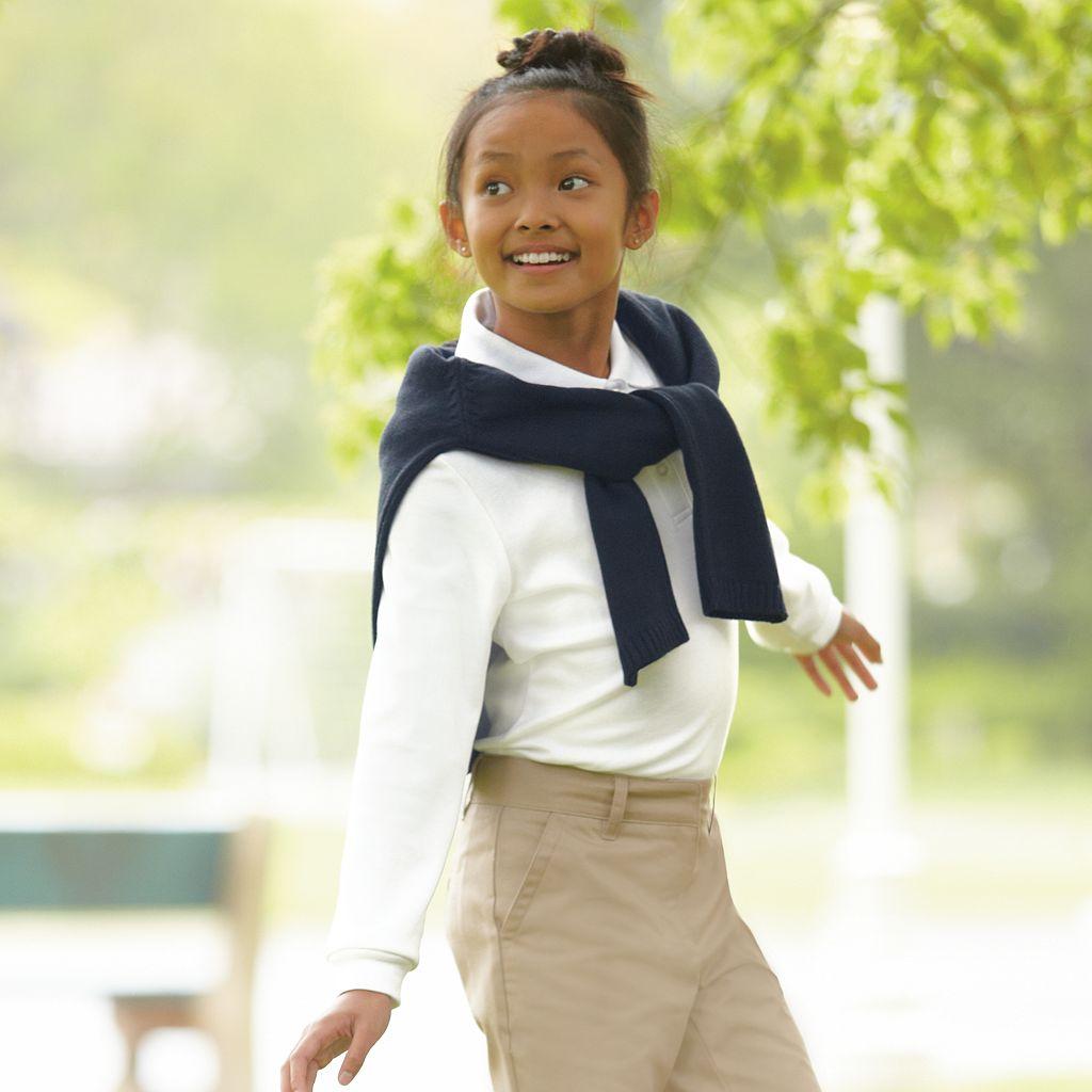 Girls 4-6x Chaps Picot-Trim School Uniform Polo
