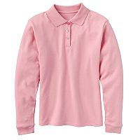 Girls 4-6x Chaps Picot-Trim School Uniform Polo