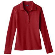 Chaps Ruffled School Uniform Polo - Girls 7-16