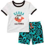Carter's Scuba Dude Tee and Floral Shorts Set - Toddler