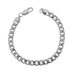 LYNX Stainless Steel Curb Chain Bracelet - 8.75-in.