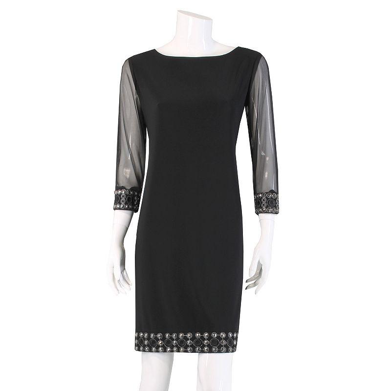 Tiana B Embellished Shift Dress - Women's