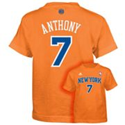 adidas New York Knicks Carmelo Anthony Tee - Boys 8-20
