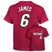 adidas Miami Heat LeBron James Tee - Boys 8-20