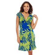 Tiana B Paisley Knot-Front Empire Dress